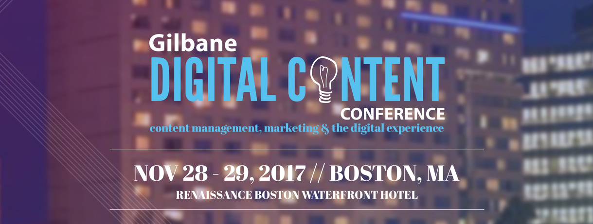 Gilbane Digital Content Conference 2017