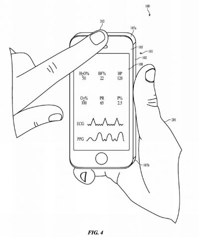 Apple patent Electronic Device That Computes Health Data