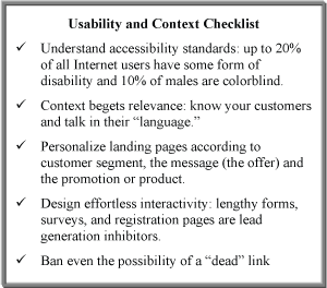 usability and context checklist